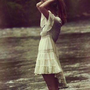 Free People Romantic White Lacey Dress